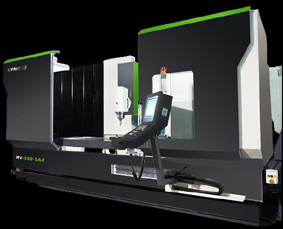 Пятиосевой фрезерный обрабатывающий центр с поворотной головой и подвижной колонной LYMCO MV-5AX